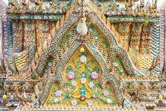 Dettaglio nell'arte Tailandia del tempio immagine stock