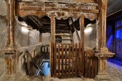 Dettaglio nella miniera di sale di Turda Fotografia Stock Libera da Diritti