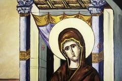 Dettaglio ortodosso 2 dell'icona di annuncio Immagine Stock