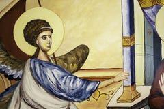 Dettaglio ortodosso 3 dell'icona di annuncio Fotografia Stock