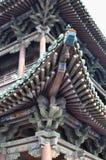 Dettaglio in Ping Yao, Cina del tetto del tempio immagini stock libere da diritti