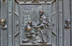 Dettaglio portale della st Vitus Cathedral Immagini Stock Libere da Diritti