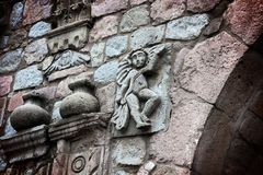 Dettaglio: Prima chiesa cattolica nell'Ecuador Fotografia Stock Libera da Diritti