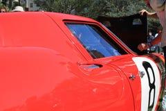 Dettaglio rosso 03 del lato del corridore di Ferrari degli anni 60 Immagini Stock Libere da Diritti