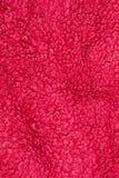 Dettaglio rosso di progettazione del fondo di struttura del panno dell'asciugamano Immagini Stock