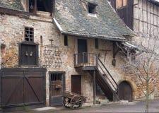 Dettaglio rustico della facciata a Colmar Fotografia Stock