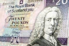 Dettaglio scozzese della banconota Fotografie Stock