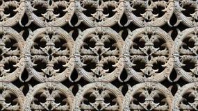 Dettaglio senza cuciture del modello di architettura gotica Immagine Stock