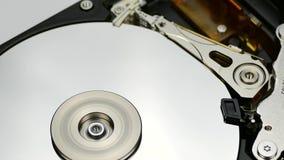 Dettaglio smontato del disco rigido stock footage