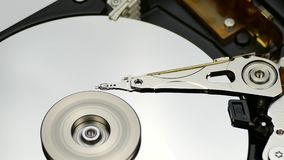 Dettaglio smontato del disco rigido archivi video