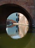 Dettaglio sotto un ponte Immagini Stock