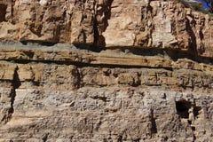 Dettaglio, strati geologici di roccia sedimentaria immagine stock
