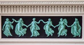 Dettaglio sul pezzo del manto al palazzo del Harwelden di Tulsa fotografia stock libera da diritti