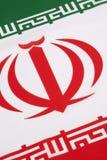 Dettaglio sulla bandiera dell'Iran Fotografia Stock