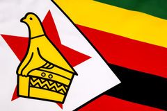 Dettaglio sulla bandiera dello Zimbabwe Fotografia Stock