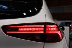 Dettaglio sulla luce posteriore di un'automobile fotografie stock libere da diritti