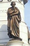 Dettaglio sulla statua di Thomas Jefferson a Richmond, la Virginia immagini stock
