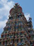 Dettaglio, tempio Madura di Menakshi immagini stock