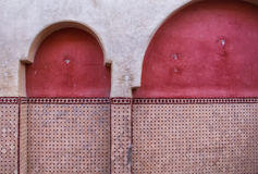 Dettaglio tradizionale di architettura, Marocco Immagine Stock