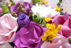 Dettaglio variopinto dei fiori di carta Fotografie Stock Libere da Diritti