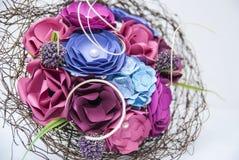 Dettaglio variopinto dei fiori di carta Immagini Stock Libere da Diritti