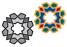 Dettaglio variopinto ornamentale islamico di progettazione di struttura decorativa araba di arabesque dell'illustrazione del mosa illustrazione vettoriale