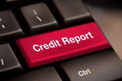 Dette de score de contrôle de prêt de libre accès de rapport de crédit bonne photos stock