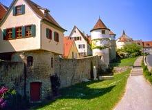 Dettelbachs Stadtmauer Photos libres de droits