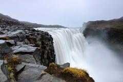 Dettifodd, cascata stupefacente in Islanda Fotografia Stock Libera da Diritti