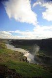 dettifoss над водопадом взгляда стоковое изображение