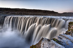 Dettifoss. Is the most powerful waterfall on Iceland and in the whole Europe. It is located in Jokulsargljufur National Park the northeasten Iceland on the stock images