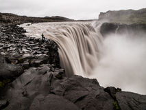Dettifoss. The biggest european waterfall (Iceland royalty free stock photography