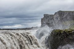 Dettifoss, Iceland. Dettifoss waterfall, Europe`s most powerful waterfall, Iceland royalty free stock images
