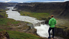 dettifoss Iceland siklawa Fotografia Stock