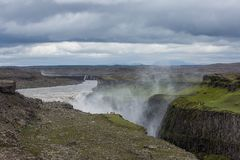 Dettifoss, Iceland. Dettifoss waterfall, Europe`s most powerful waterfall, Iceland royalty free stock photography
