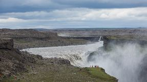 Dettifoss, Iceland. Dettifoss waterfall, Europe`s most powerful waterfall, Iceland royalty free stock image