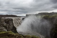Dettifoss, Iceland. Dettifoss waterfall, Europe`s most powerful waterfall, Iceland stock image