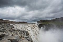 Dettifoss, Iceland. Dettifoss waterfall, Europe`s most powerful waterfall, Iceland stock photo