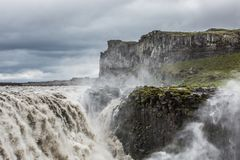 Dettifoss, Iceland. Dettifoss waterfall, Europe`s most powerful waterfall, Iceland stock images