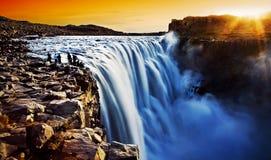 Dettifoss, IJsland stock foto's