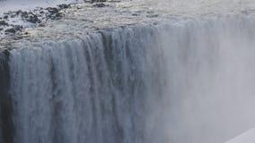 Dettifoss in IJsland 4K stock videobeelden