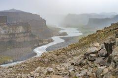 Dettifoss (Jokulsargljufur) canyon, Iceland royalty free stock image