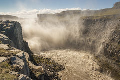 Dettifoss largest waterfall in Europe - Iceland. Royalty Free Stock Image