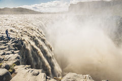 Dettifoss largest waterfall in Europe - Iceland. Royalty Free Stock Images