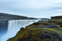 Dettifoss. Most powerful waterfall in Europe. Jokulsargljufur National Park, Iceland royalty free stock image