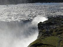 The waterfall Dettifoss. Dettifoss, the most powerful waterfall in Europe Stock Photos