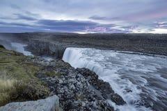 Dettifoss Placerat i Vatnajokull N P i nordostliga Island Royaltyfri Fotografi