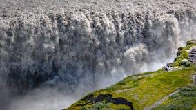 Dettifoss - puissance commandante de l'eau - nature de l'Islande photographie stock libre de droits