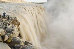 Dettifoss siklawa, Iceland Obraz Royalty Free