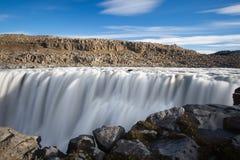 Dettifoss siklawa Podróż w Iceland Fotografia Royalty Free